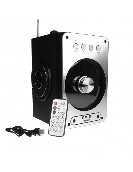 Boxa Bluetooth Portabila Karaoke Radio FM, TF, MP3, USB