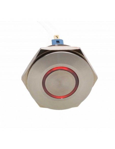 Push Buton 30mm / 24V Led Rosu